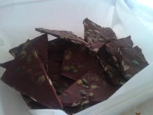 Salted Pepita Dark Chocolate Bark