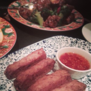 Shrimp Toasts and Beef & Broccoli