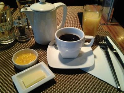 OJ and coffee at Bon App