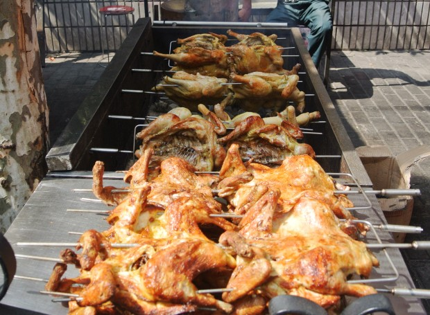 Whole roasted chickens for 50RMB ($9)