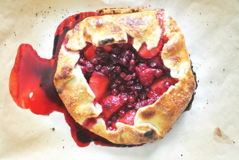Lingonberry + Strawberry Mini Galette [Shanghai Spice]