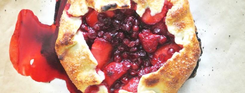 Lingonberry + Strawberry Mini Galette [Shanghai Spice]